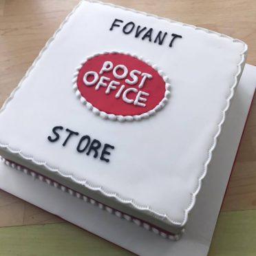 Corporate post office cake