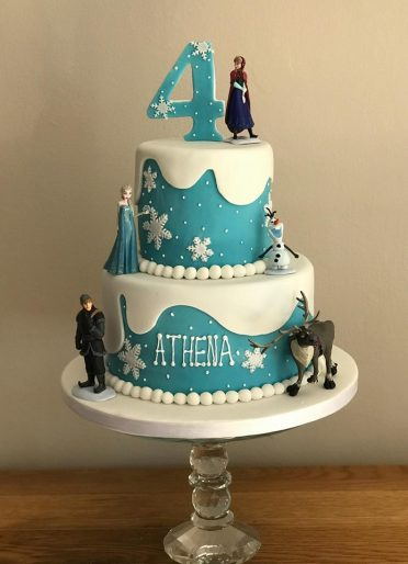 Two tier Disney Frozen cake