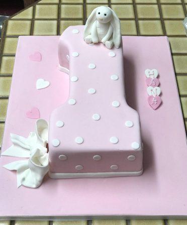 Bunny 1st Birthday cake