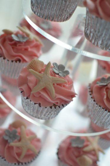 PInk shell cupcakes at the Hallmark Hotel