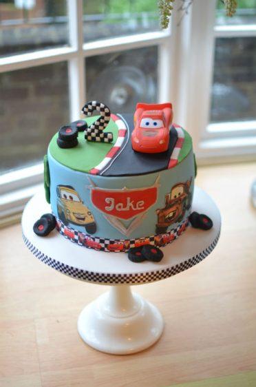 Disney Cars cake with plastic model