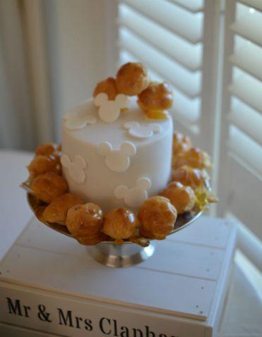Mini fruit cake to match croquembouche
