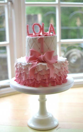 Lola ruffles birthday cake
