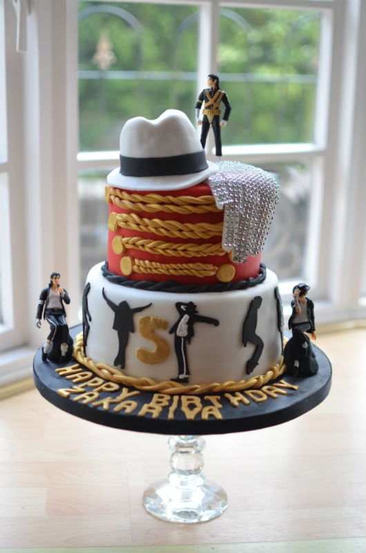 Admirable Michael Jackson Birthday Cake Personalised Birthday Cards Cominlily Jamesorg
