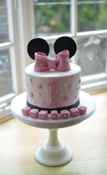 Mouse ears birthday cake