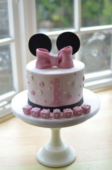Mouse ears birthday cake