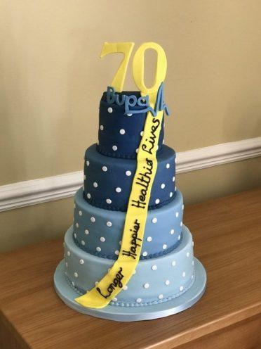 BUPA Corporate cake. Designed by a staff member.
