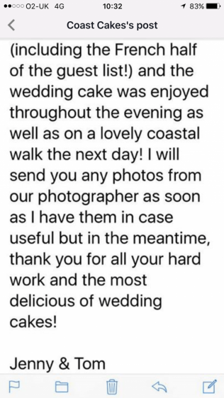 2017 review for 5 tier wedding cake & croquembouche