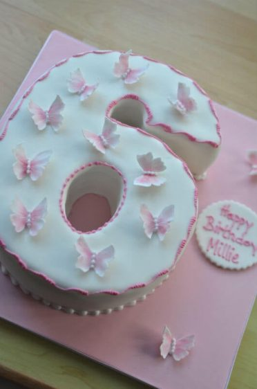Butterfly 6 cake.