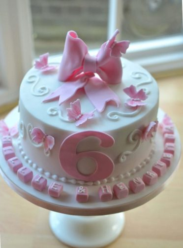 Bow & butterfly cake.