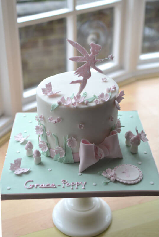Tinkerbell 1st Birthday Cake