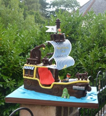 Jake and the Neverland Pirate Ship Cake
