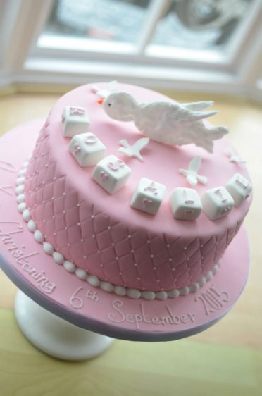 Dove Christening cake.