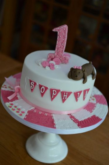 Patchwork 1st Birthday cake