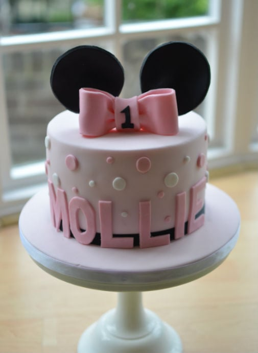 Miraculous Minnie Mouse 1St Birthday Cake Personalised Birthday Cards Veneteletsinfo