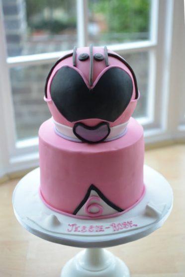 Pink Power Rangers cake.