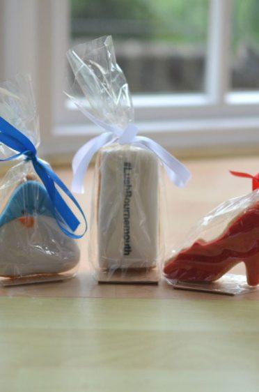 LUSH vegan cookies in biodegradable packaging.
