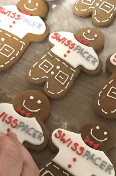 Hand piped gingerbread men