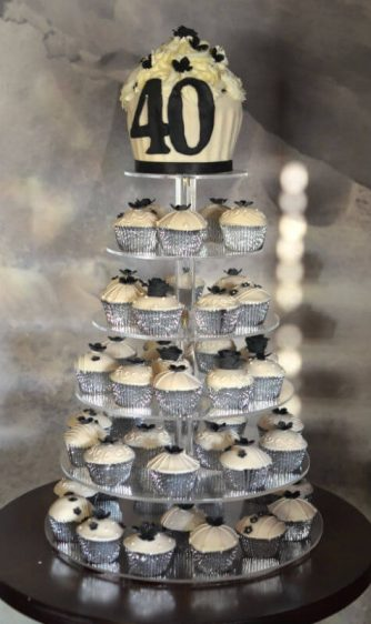 Ivory piped cupcakes at The Boathouse Christchurch