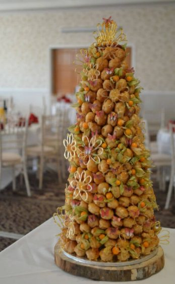 Croquembouche at Shendish Manor Hotel. Hemel Hempstead