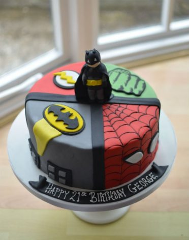 Superheroes cake with sugar Batman