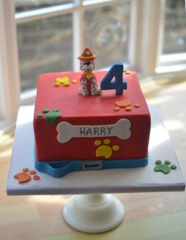 Paw Patrol birthday cake.