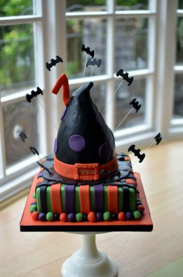 Witches hat  Halloween birthday cake