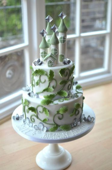 Crystal forest castle cake