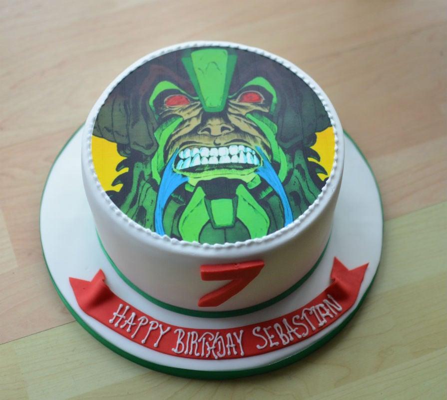 Marvel Birthday Cake With Matching Cupcakes