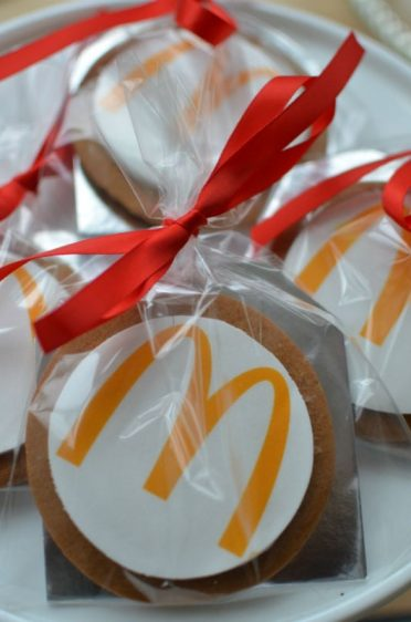 Corporate McDonald's gingerbread cookies posted to London head office