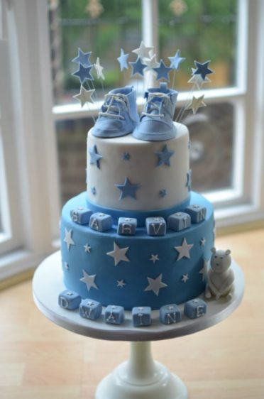 Christening cake posted to London