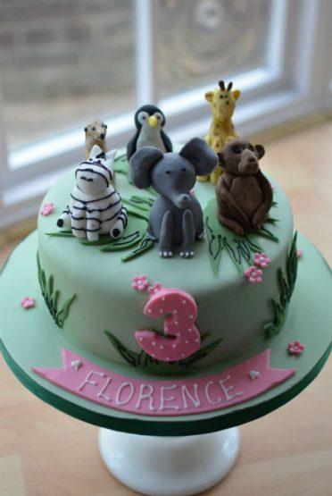 Wild animal cake