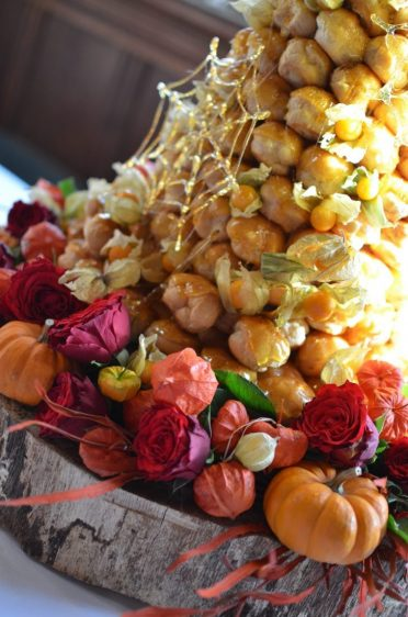Close up of croquembouche