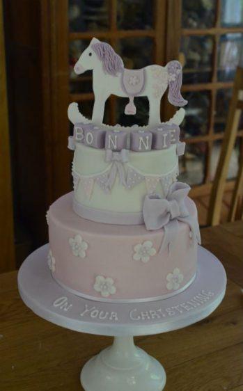 Rocking horse Christening cake