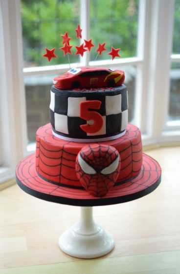 Spiderman/Cars birthday cake