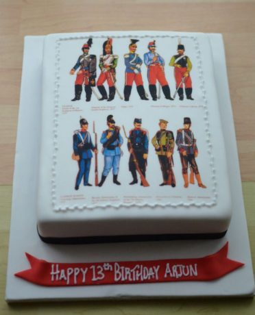 Napoleon photo cake