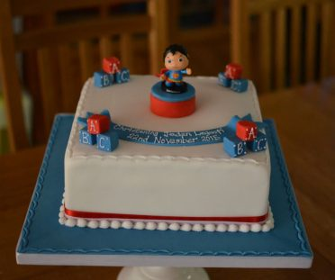 Superman Christening cake