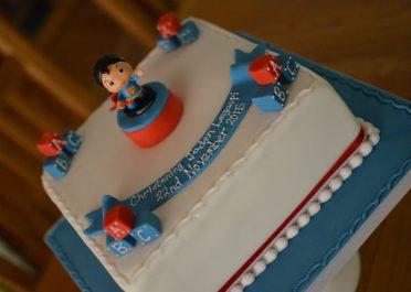 Superman Christening cake