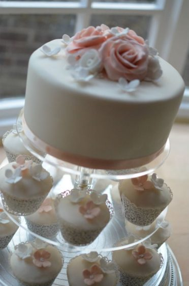 Roses & cupcakes at Chewton Glen Hotel.