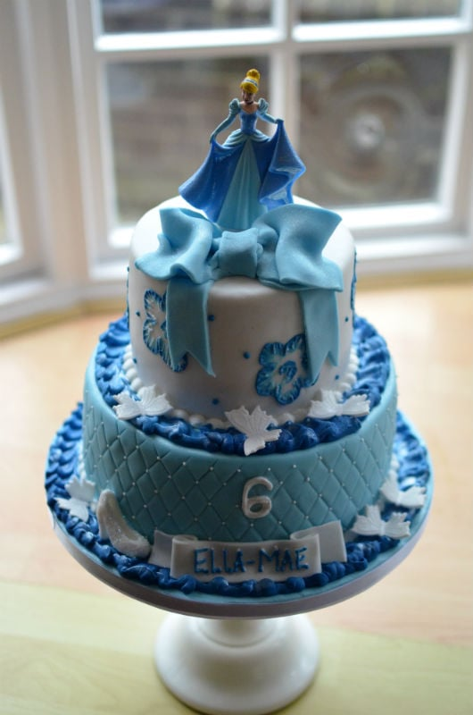 Terrific Cinderella Birthday Cake Funny Birthday Cards Online Overcheapnameinfo