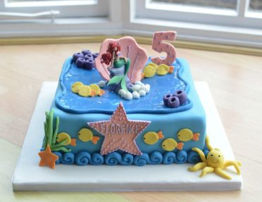 Little Mermaid cake.
