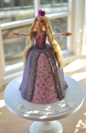 Rapunzel doll cake