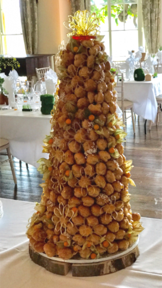 Croquembouche Piece montee at North Caadbury