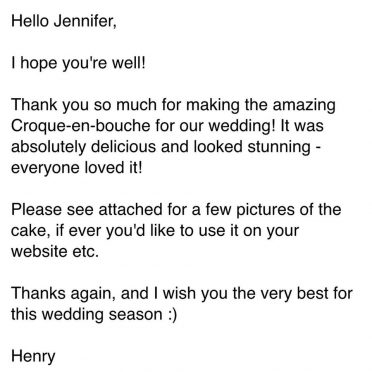 2019 Review for croquembouche.