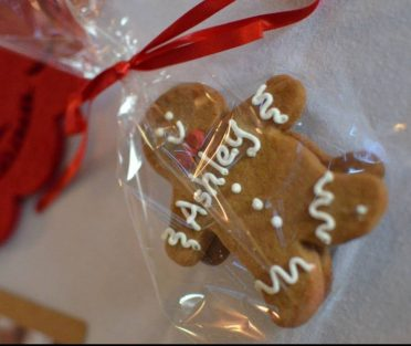 Gingerbread men cookie placenames