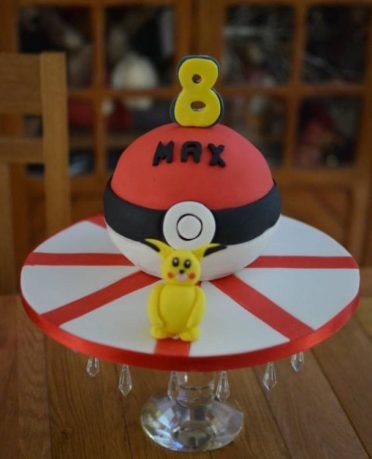 Pokemon ball cake