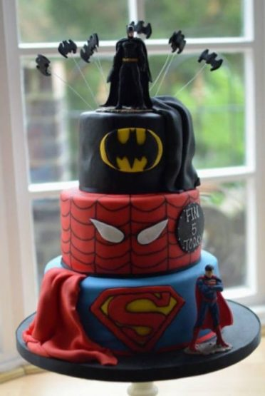 Super Hero 3 Tier Cake