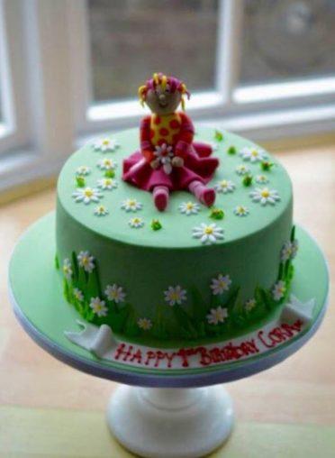 Upsydaisy daisy cake