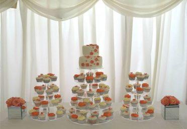 Coral cupcakes at Parley Manor