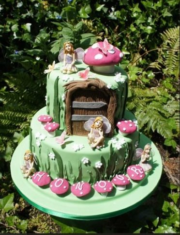 Fairy toadstool cake 2 tier